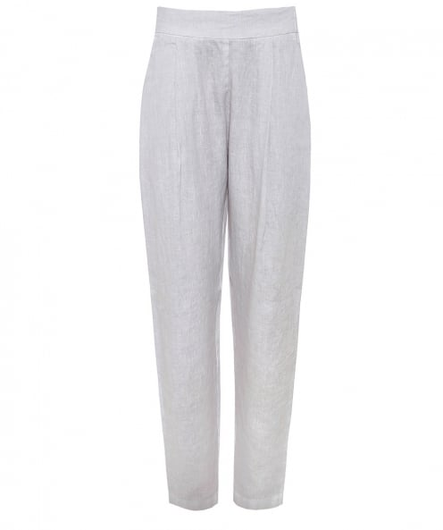 120% Lino Linen Ankle Peg Trousers