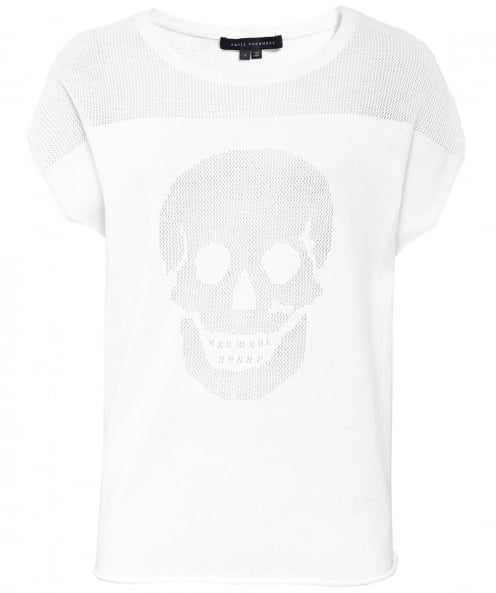 360 Sweater Cashmere Blend Keira Skull T-Shirt