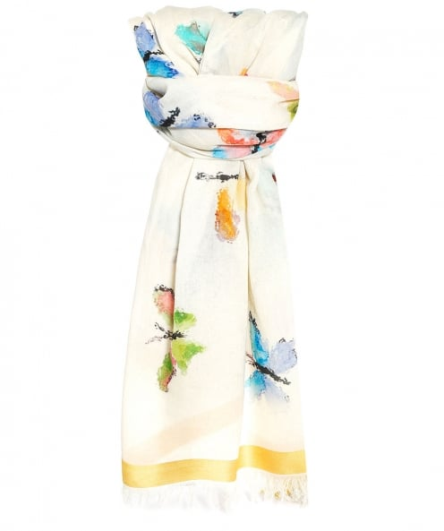 Ahujasons Butterfly Print Scarf