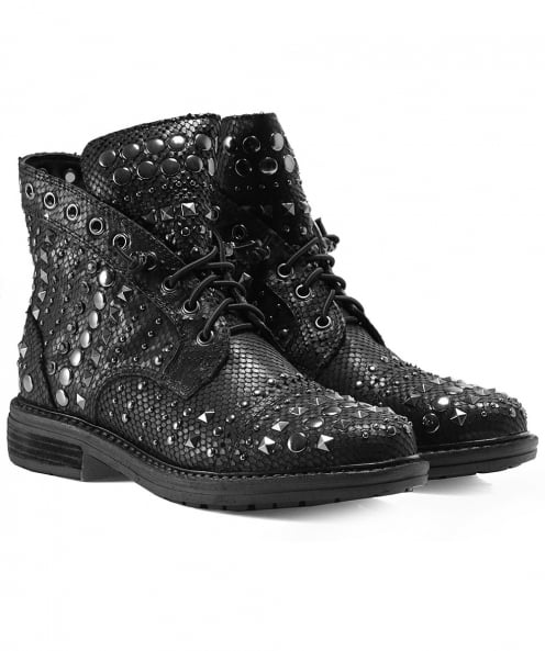 Alma en Pena Studded Leather Viper Boots