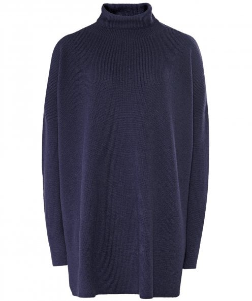Annette Gortz Merino Wool Funnel Neck Oversized Jumper