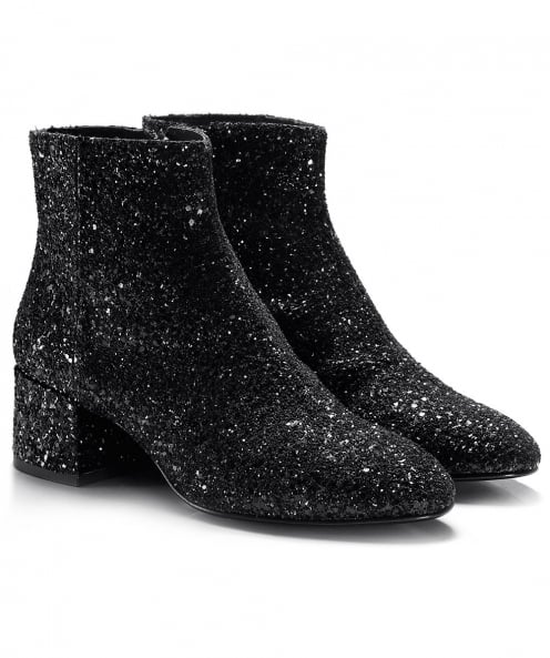 Ash Glitter Dragon Ankle Boots