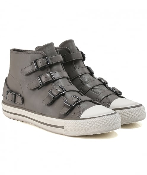 Ash Leather Venus Buckle Trainers