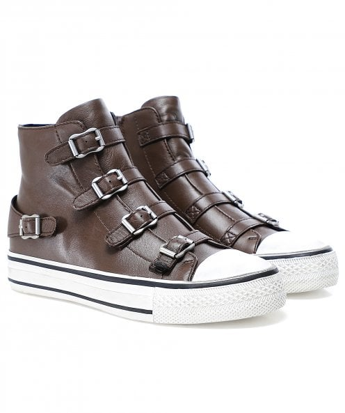 Ash Leather Virgin High Top Trainers