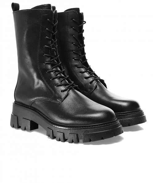 Ash Liam Lace Up Leather Boots