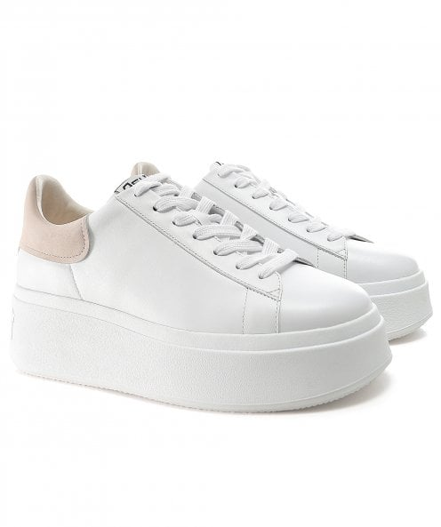 Ash Moby Leather Platform Trainers