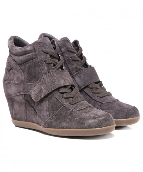 Ash Suede Bowie High Top Wedge Trainers