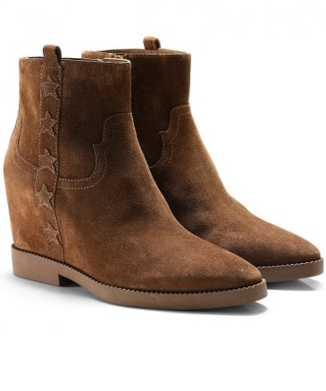 Suede Goldie Wedge Boots