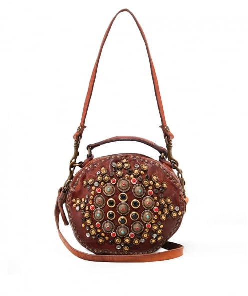 Campomaggi Embellished Leather Bowling Bag