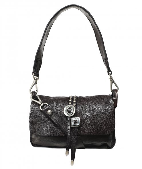 Campomaggi Leather Double Buckle Shoulder Bag