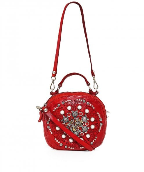 Campomaggi Leather Studded Bowling Bag