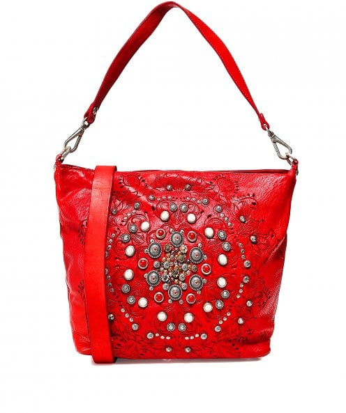 Campomaggi Leather Studded Shopper Bag