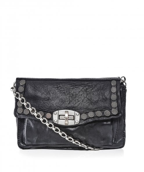 Campomaggi Leather Studded Shoulder Bag
