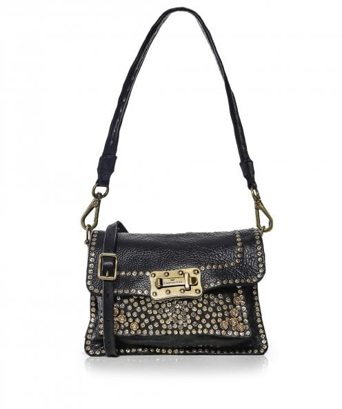 Campomaggi Medium Leather Studded Crossbody Bag