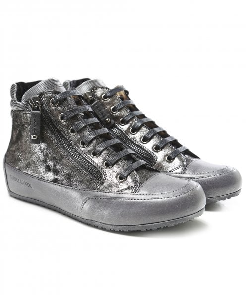 Candice Cooper Lion Glitter High Top Trainers