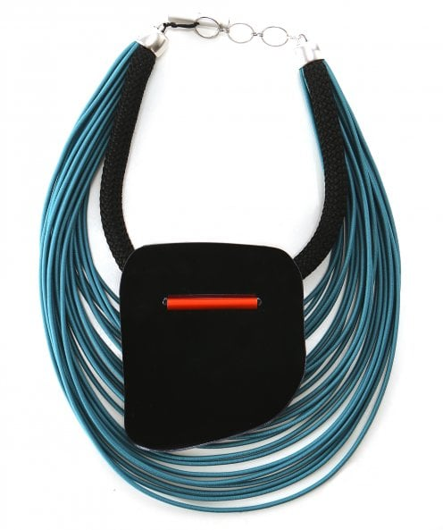 Christina Brampti Multi Elastic Cord Plexiglas Necklace