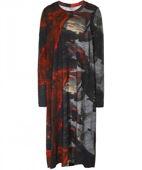 Crea Concept Abstract Print Jersey Maxi Dress