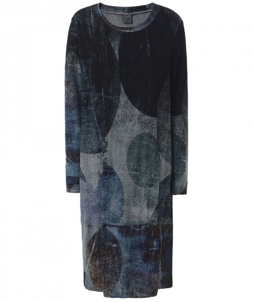 Crea Concept Abstract Print Jersey Midi Dress