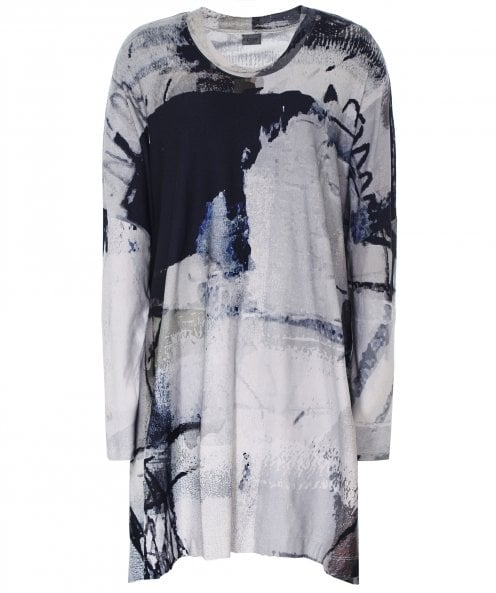 Crea Concept Abstract Print Jersey Tunic Dress