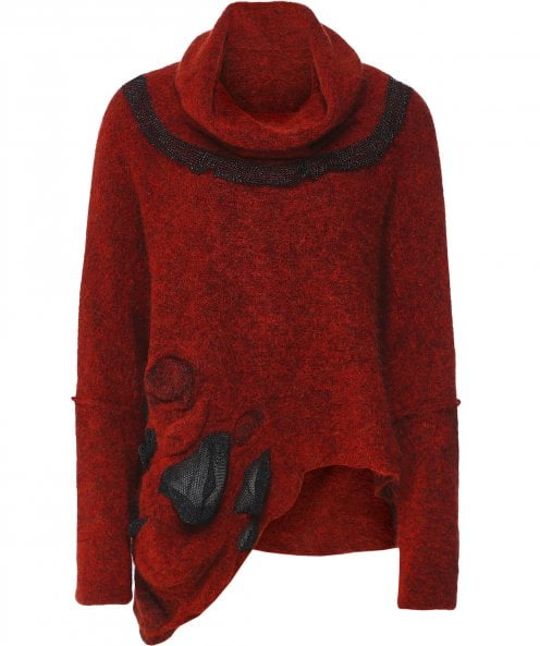 Crea Concept Asymmetric Roll Neck Jumper