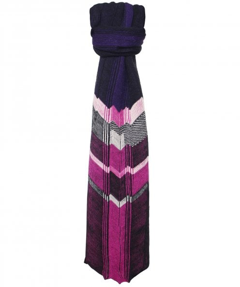 Crea Concept Chevron Striped Scarf