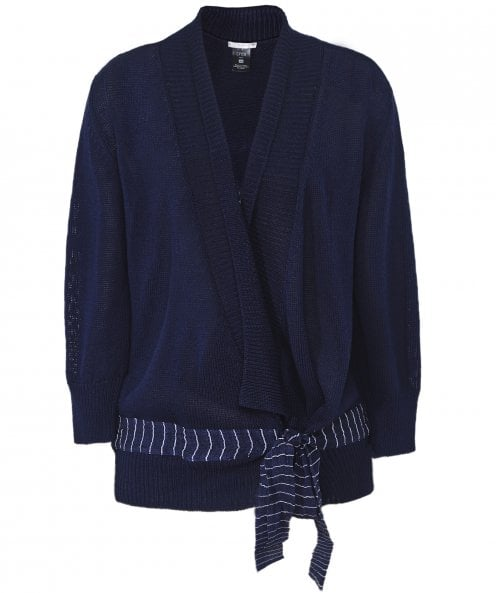 Crea Concept Knitted Tie Front Cardigan