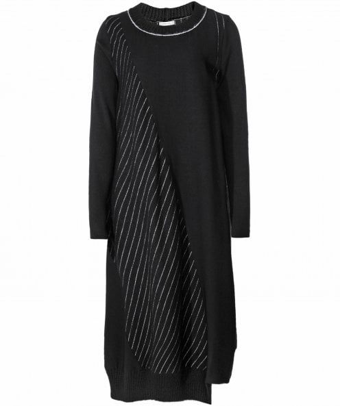 Crea Concept Panelled Pinstripe Dress