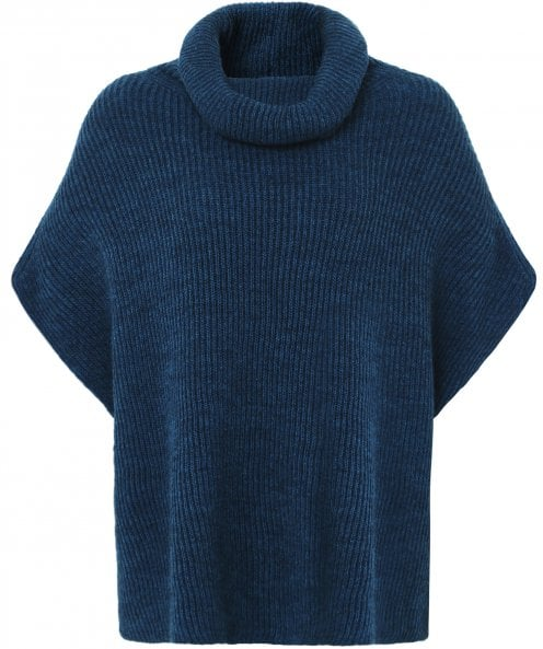 Crea Concept Sleeveless Roll Neck Knitted Jumper