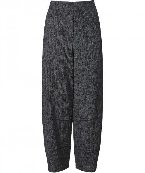 Crea Concept Textured Wide Leg Trousers