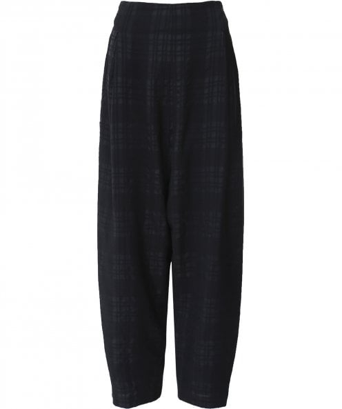 Crea Concept Wool Blend Check Balloon Trousers