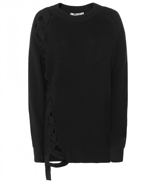 Crea Concept Wool Front Tie Knitted Jumper