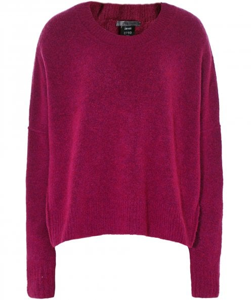 Crea Concept Wool Ribbed Hem Jumper
