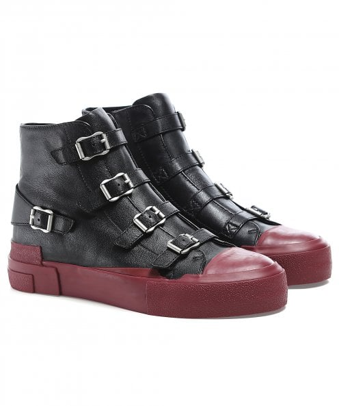 Ash Gang Buckle Leather Trainers