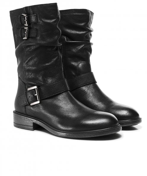 Geox Catria Leather Buckle Boots