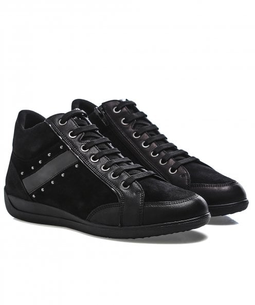 Geox D Myria Leather Trainer