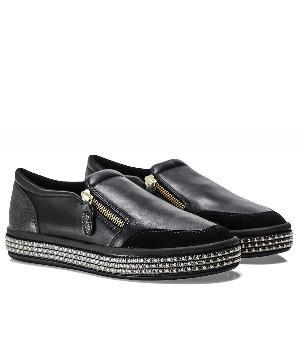 cheaper elegant shoes most popular Leather Leelu Slip-On Trainers