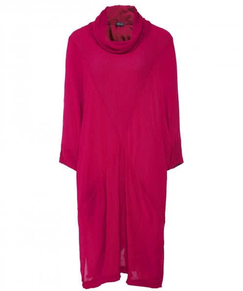 Grizas Crinkled Cowl Neck Tunic
