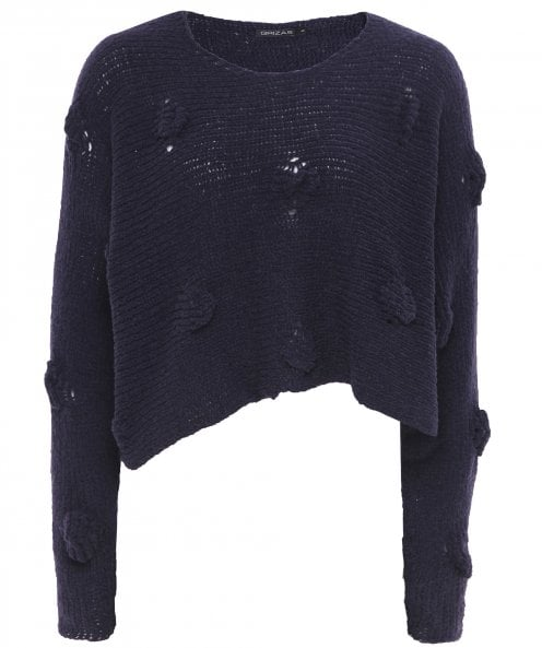 Grizas Cropped Textured Jumper