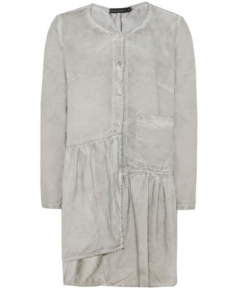 Grizas Linen Frilled Hem Shirt
