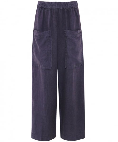 Grizas Linen Cropped Pocket Trousers