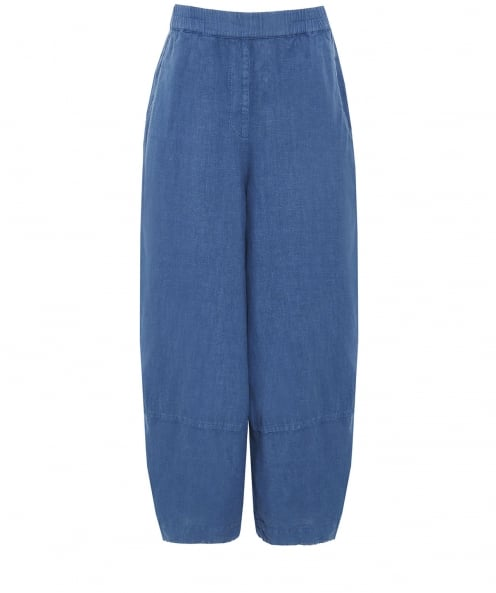 Grizas Linen Cropped Trousers