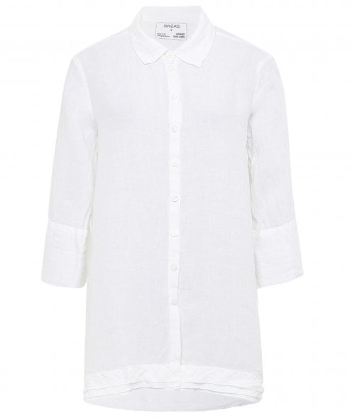 Grizas Linen Layered Hem Shirt