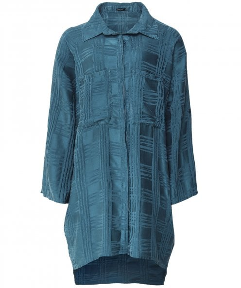 Grizas Oversized Checked Silk Shirt