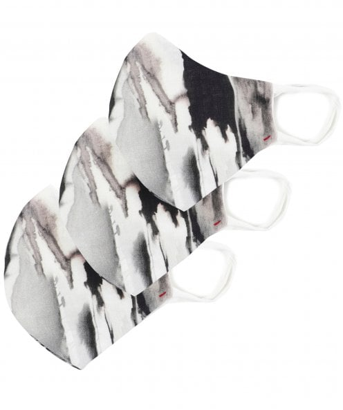 Grizas Pack of 3 Patterned Linen Protective Face Masks