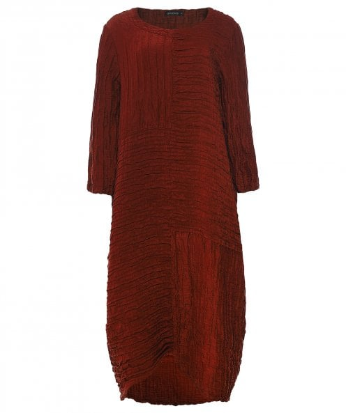 Grizas Silk & Linen Crinkled Dress