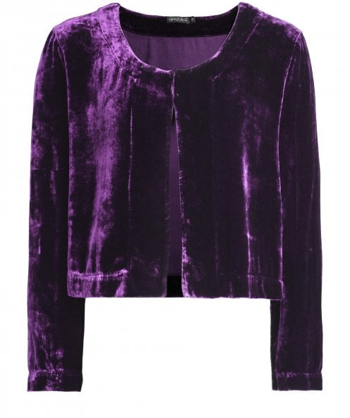Grizas Velvet Cropped Jacket