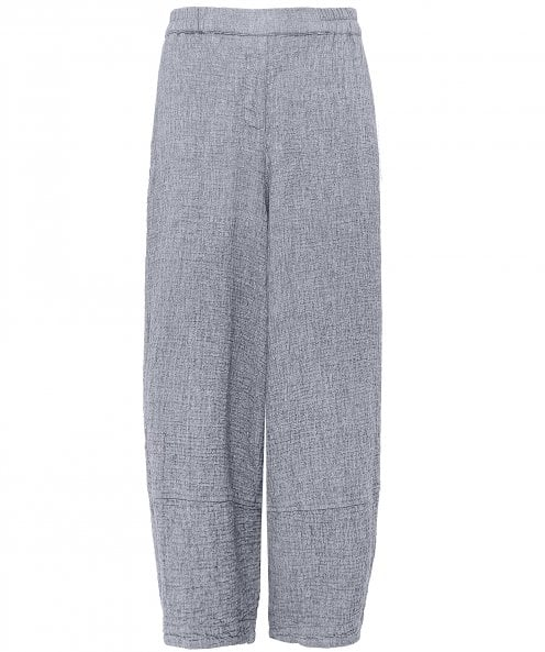 Grizas Wide Leg Waffle Cropped Trousers