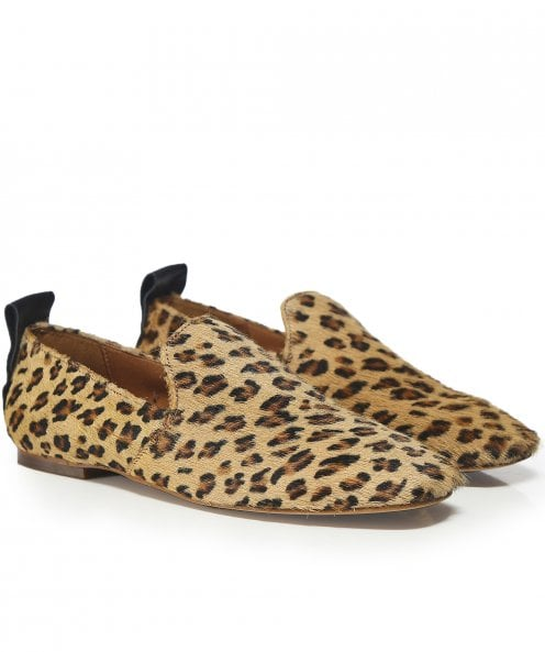H by Hudson Hattie Leopard Print Loafers