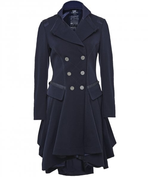 High Act-Out Skirted Tailored Coat