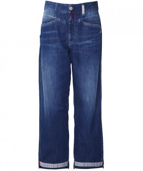 High Bribe Straight Leg Cropped Jeans